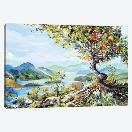 Tree With Mountains Canvas Print #PIE94} by Piero Manrique Canvas Artwork