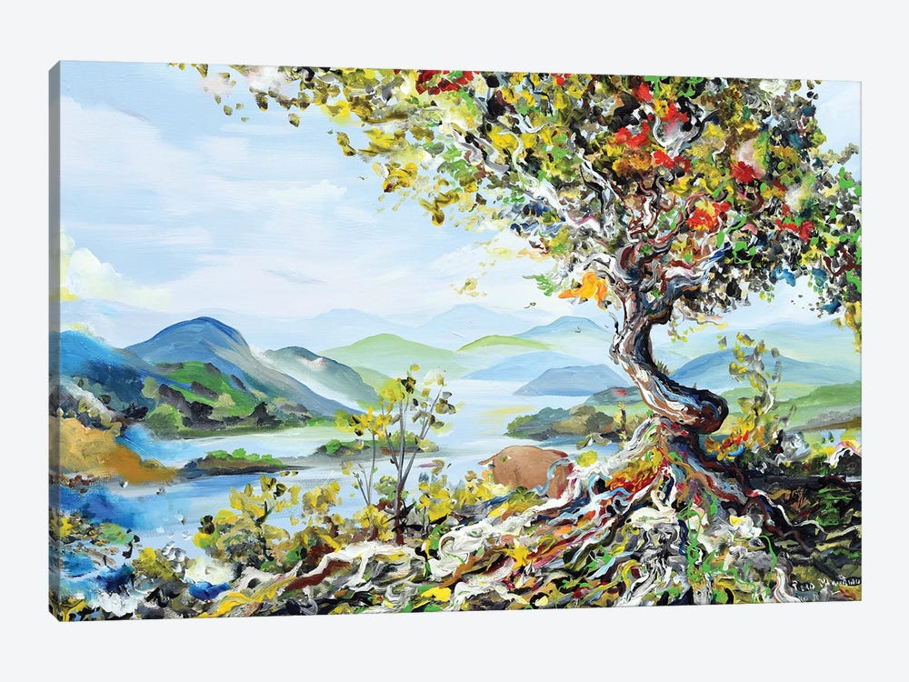 Tree With Mountains by Piero Manrique 1-piece Canvas Wall Art