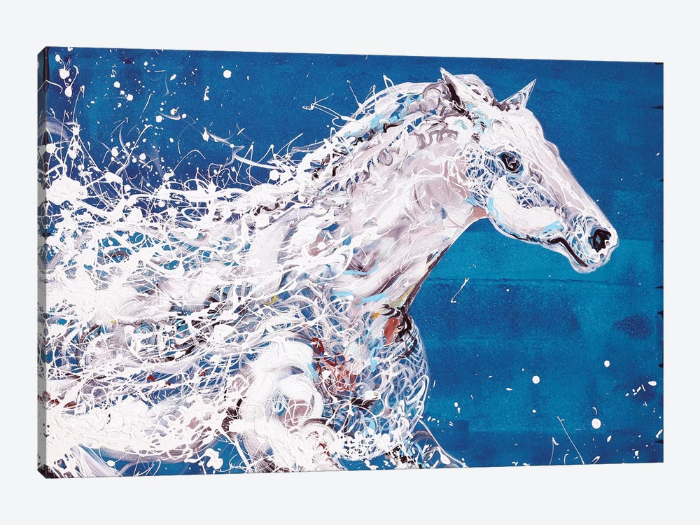 White Horse by Piero Manrique 1-piece Canvas Print
