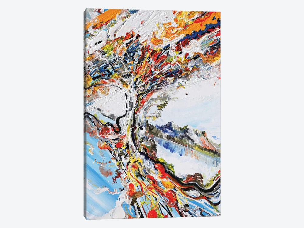 Abstract Tree by Piero Manrique 1-piece Canvas Wall Art