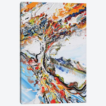 Abstract Tree Canvas Print #PIE98} by Piero Manrique Art Print