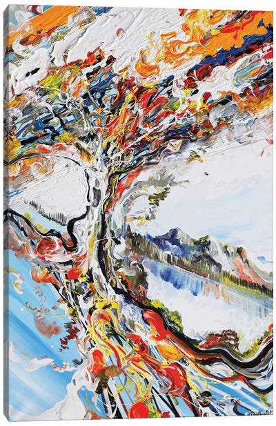Abstract Tree Canvas Art Print