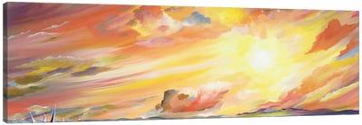 Brilliant Sunset Canvas Print #PIE9