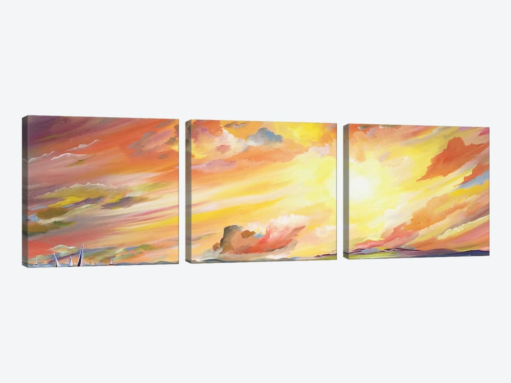 Brilliant Sunset by Piero Manrique 3-piece Canvas Print