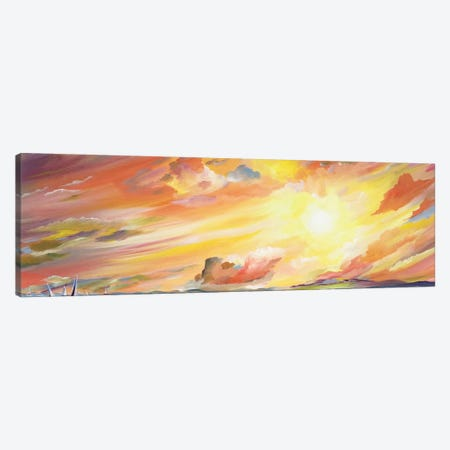 Brilliant Sunset Canvas Print #PIE9} by Piero Manrique Canvas Art