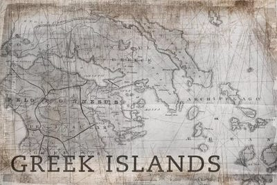 Greek Islands Map, Vintage Canvas Print by PI Galerie   iCanvas on map of mouse island, map of sicily, map of ionian greek islands, map of greek islands in english, map of turkey and greek islands, map of islands of greece, map of main land europe, map of isles gk, map of greece with cities, map of the hawaiian islands to print, map of greece showing mount olympus, map of hellenic, map of kalokairi, map of skala greece, map of italy, map of greece with islands, map with towns of evia greece,