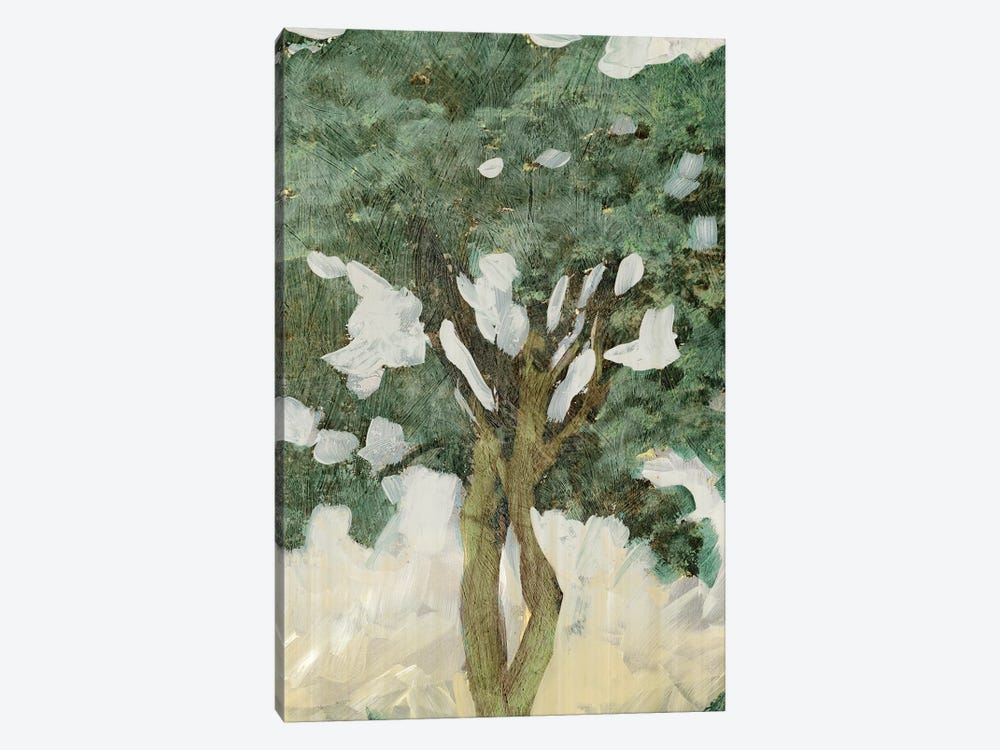 Green Tree Line III by PI Galerie 1-piece Canvas Art Print