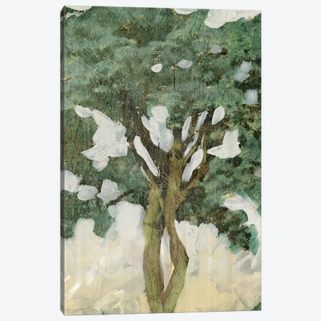 Green Tree Line III Canvas Print #PIG109} by PI Galerie Art Print