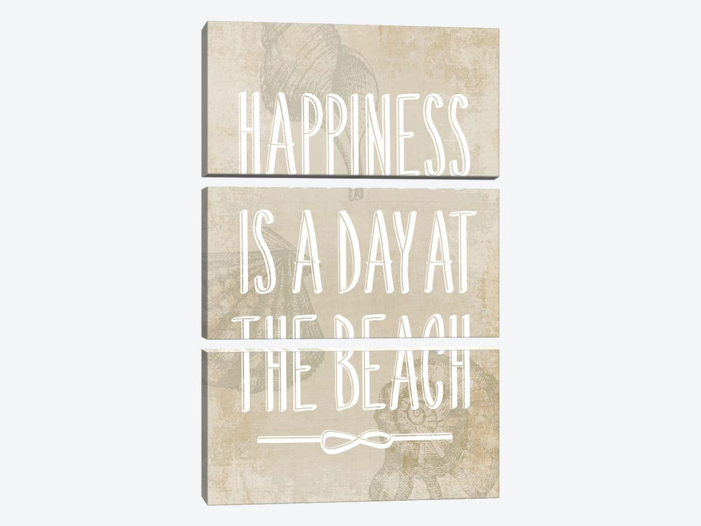 Happiness Is A Day At The Beach 3-piece Art Print
