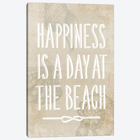 Happiness Is A Day At The Beach Canvas Print #PIG114} by PI Galerie Canvas Print