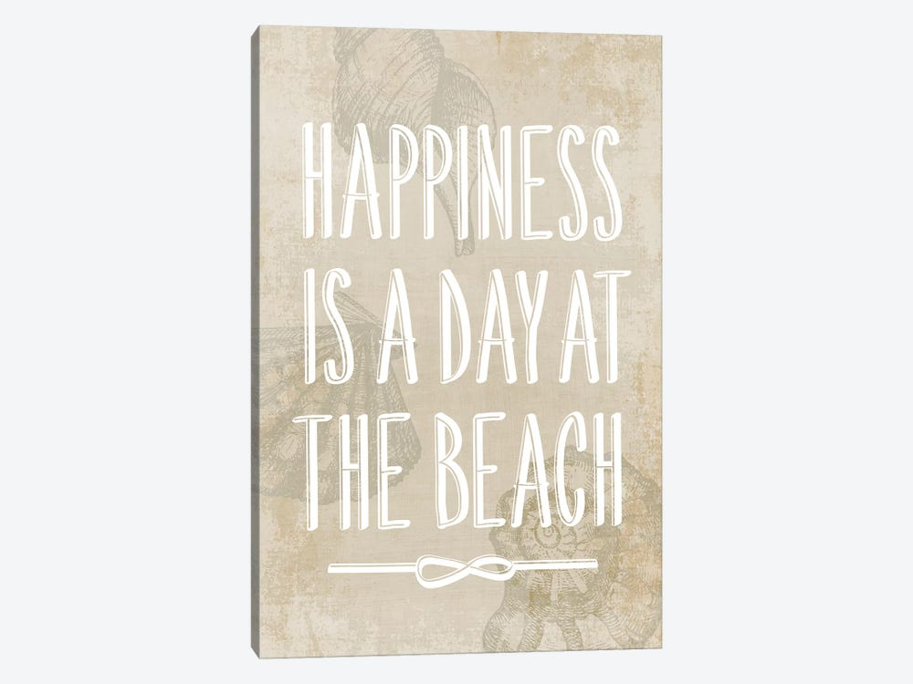 Happiness Is A Day At The Beach by PI Galerie 1-piece Canvas Art Print