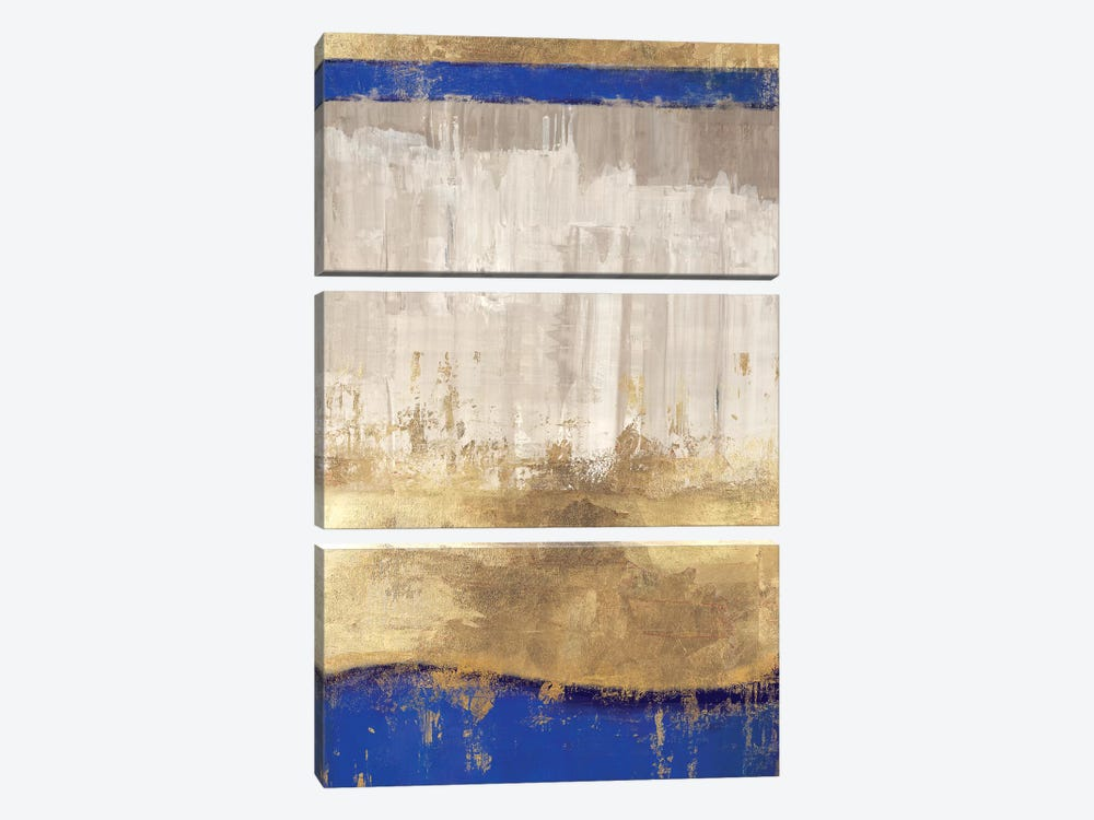 Indigo Abstract I by PI Galerie 3-piece Canvas Wall Art