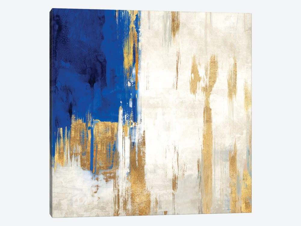 Indigo Abstract III by PI Galerie 1-piece Canvas Print