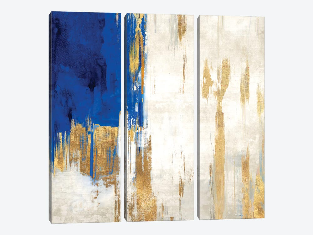 Indigo Abstract III by PI Galerie 3-piece Canvas Art Print