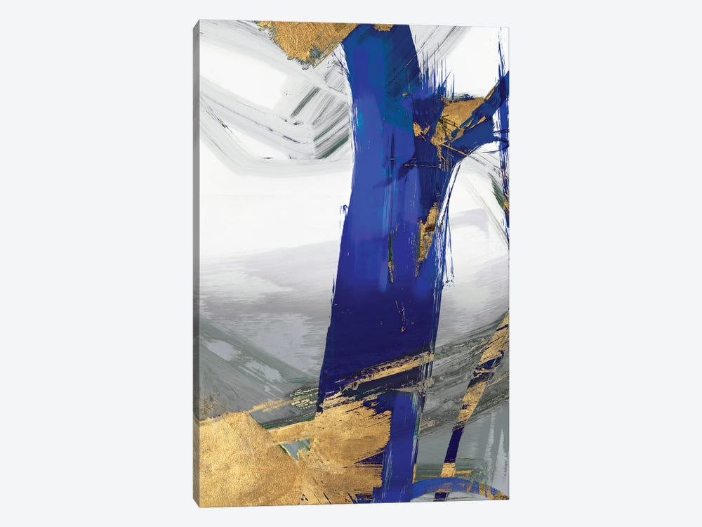 Indigo Abstract IV by PI Galerie 1-piece Canvas Wall Art