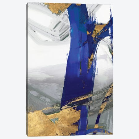 Indigo Abstract IV Canvas Print #PIG122} by PI Galerie Canvas Art Print