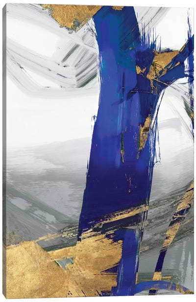 Indigo Abstract IV Canvas Art Print