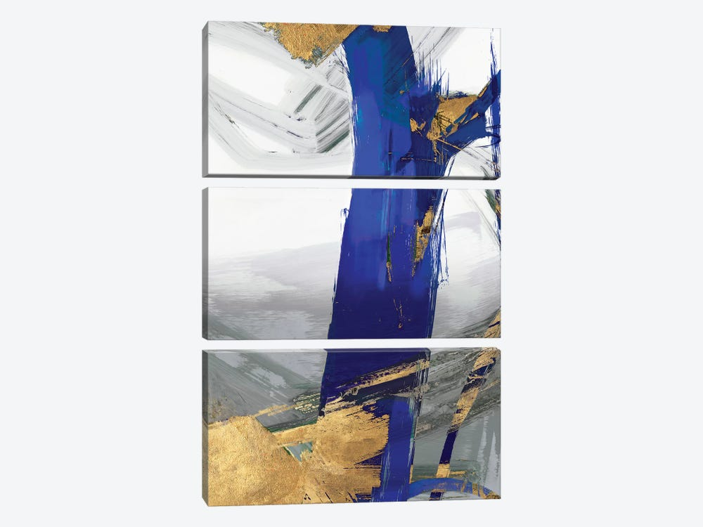 Indigo Abstract IV by PI Galerie 3-piece Canvas Wall Art