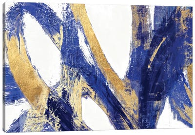 Indigo Abstract V Canvas Art Print