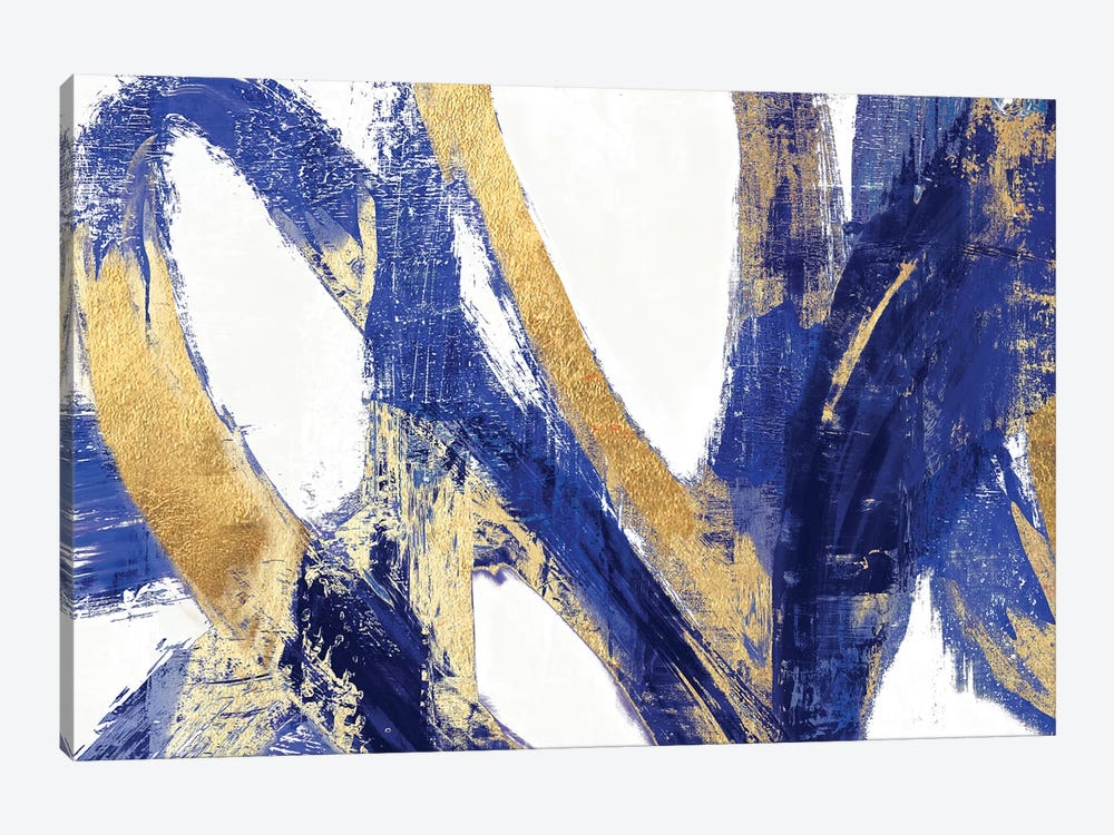 Indigo Abstract V by PI Galerie 1-piece Art Print