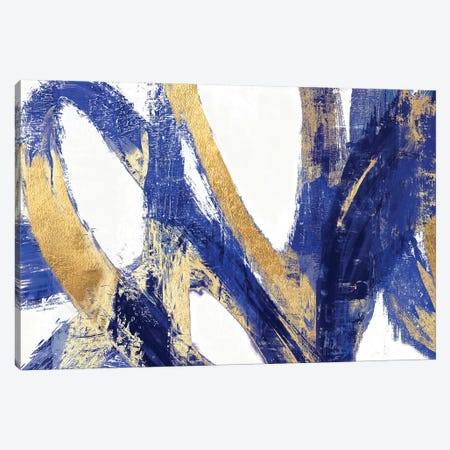 Indigo Abstract V Canvas Print #PIG123} by PI Galerie Art Print