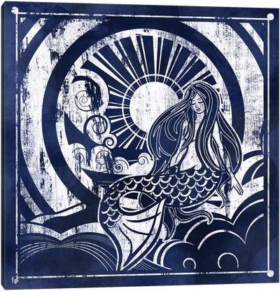 Ink Dip Mermaid Canvas Art Print