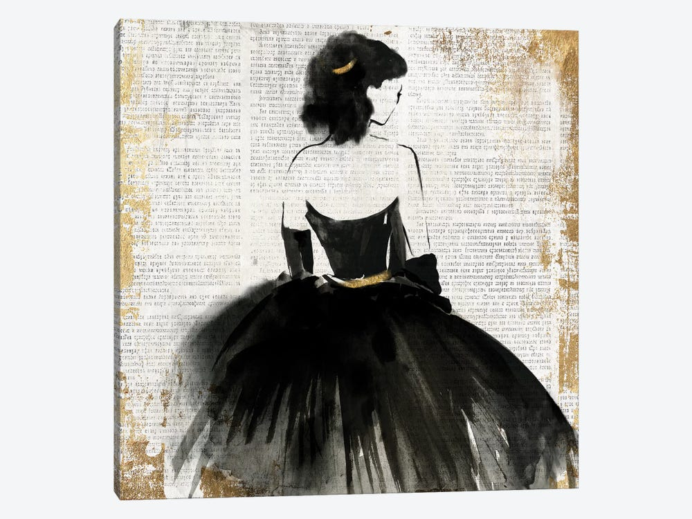 Lady In Black Dress by PI Galerie 1-piece Art Print