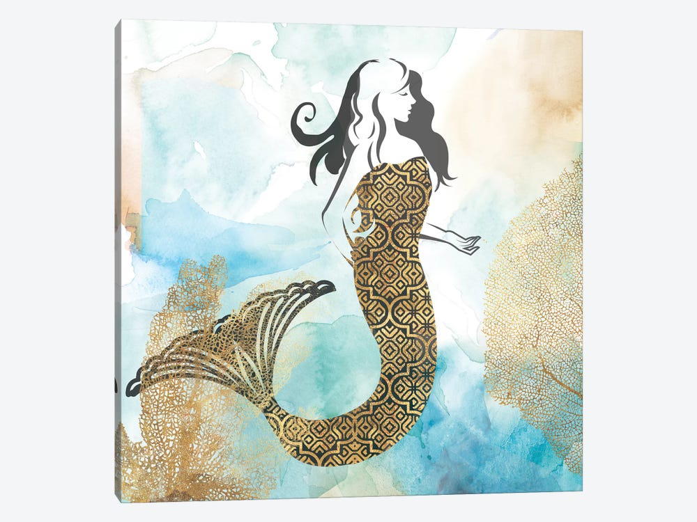 Mermaid I by PI Galerie 1-piece Canvas Art Print