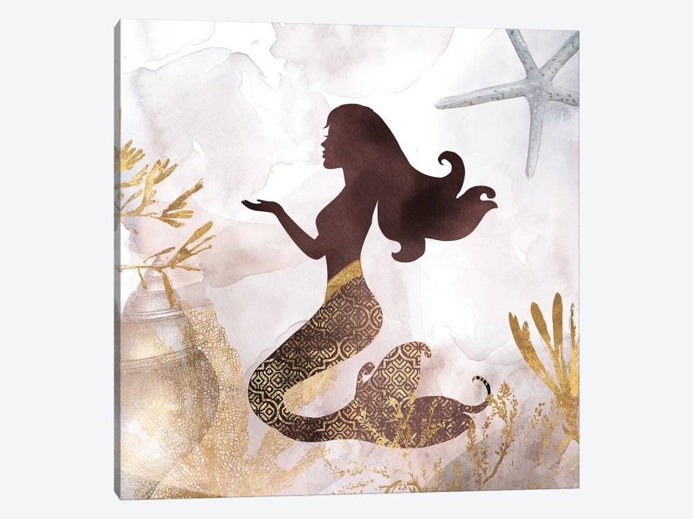 Mermaid II 1-piece Canvas Art