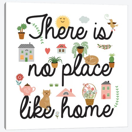 No Place Like Home Canvas Print #PIG182} by PI Galerie Art Print