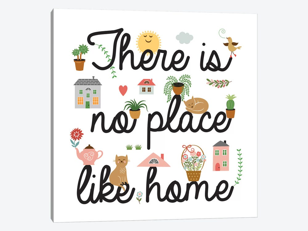 No Place Like Home by PI Galerie 1-piece Canvas Artwork
