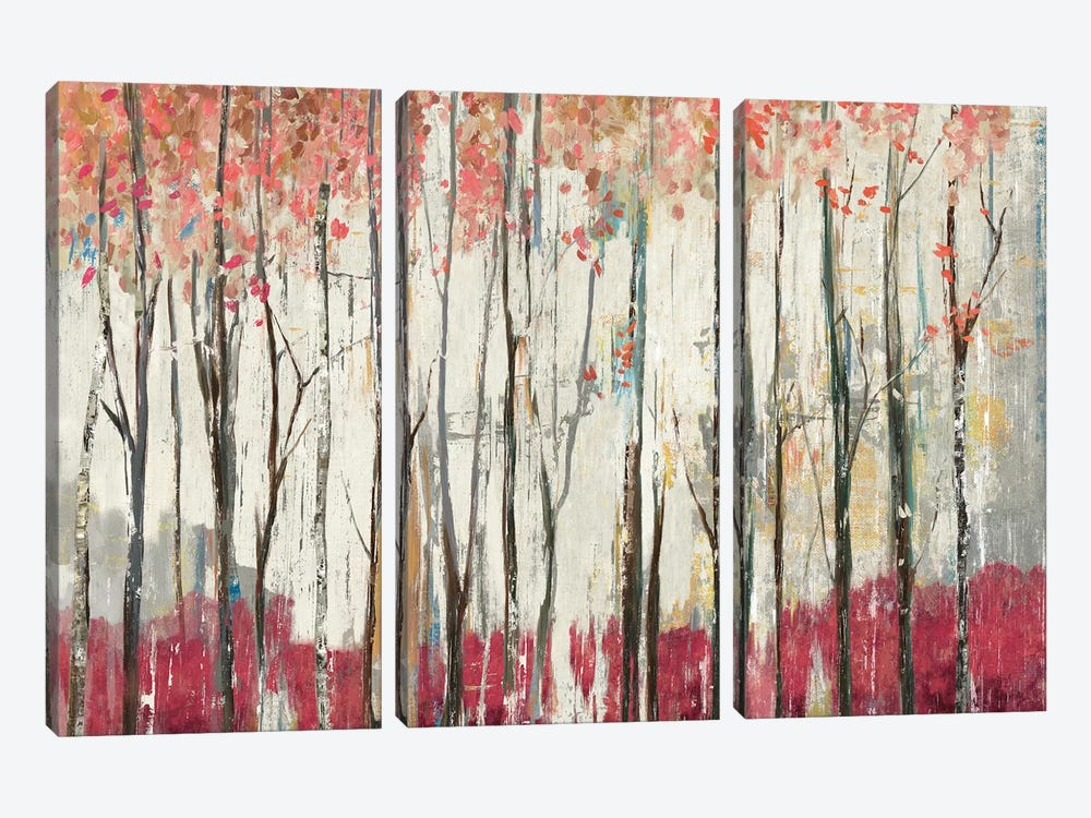 Pink Forest 3-piece Canvas Print