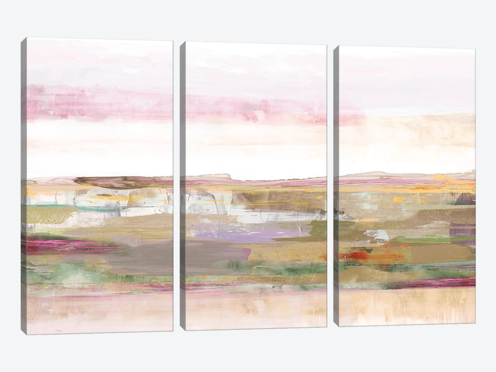 Pink Landscape by PI Galerie 3-piece Canvas Wall Art