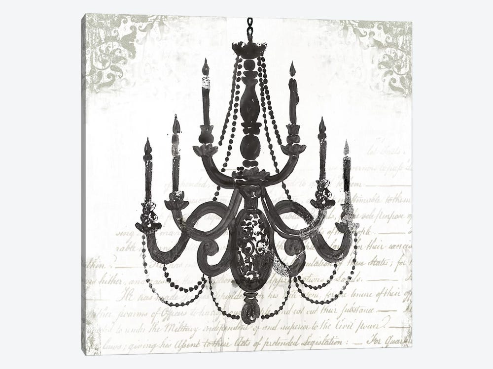 Black Chandelier I by PI Galerie 1-piece Canvas Art