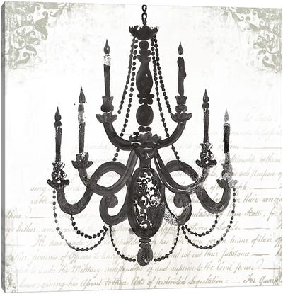 Black Chandelier I Canvas Art Print