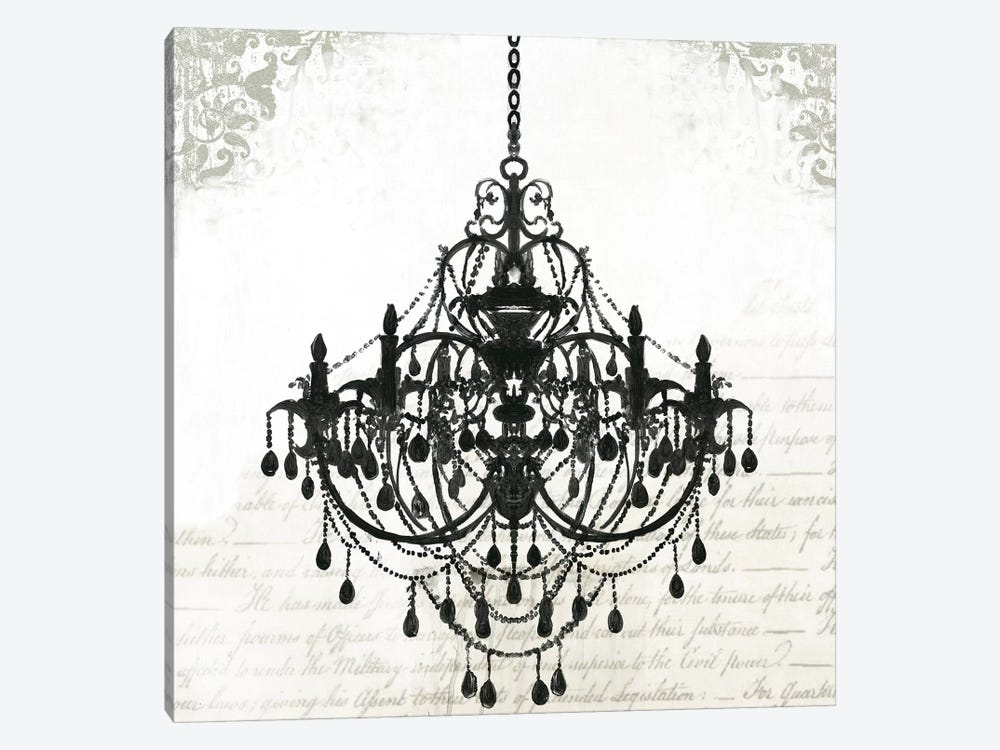 Black Chandelier Ii By Pi Galerie 1 Piece Canvas Artwork