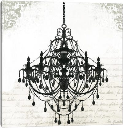 Black Chandelier II Canvas Art Print