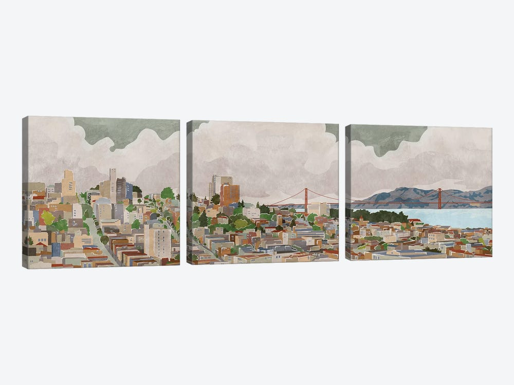 San Francisco by PI Galerie 3-piece Canvas Art Print