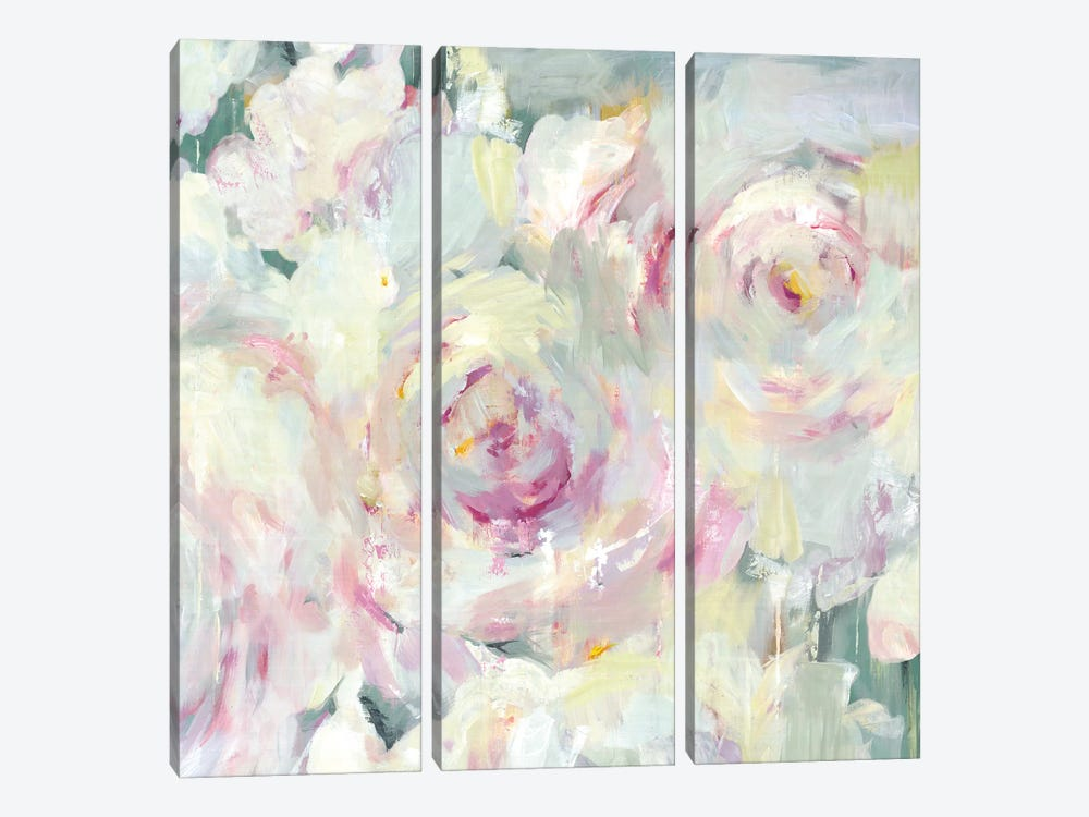 Shabby Peony II by PI Galerie 3-piece Canvas Wall Art