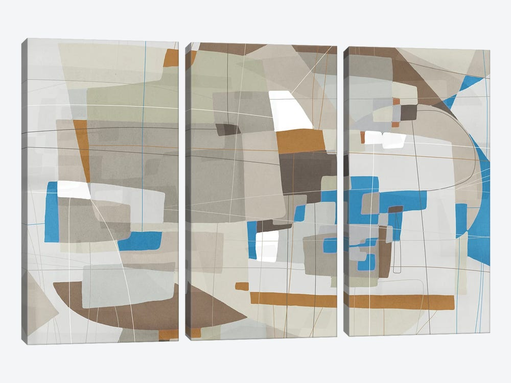 Somatic Beat I by PI Galerie 3-piece Canvas Art