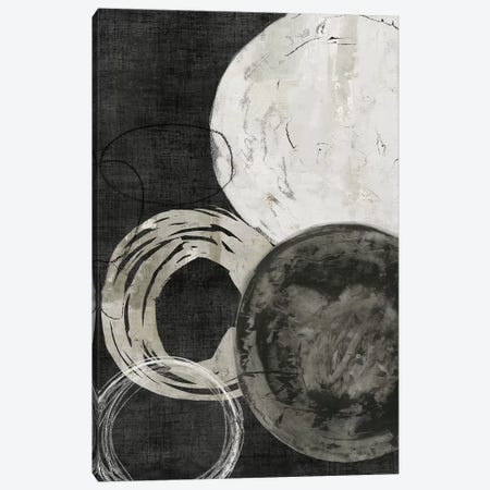 Black Rings Canvas Print #PIG23} by PI Galerie Canvas Art