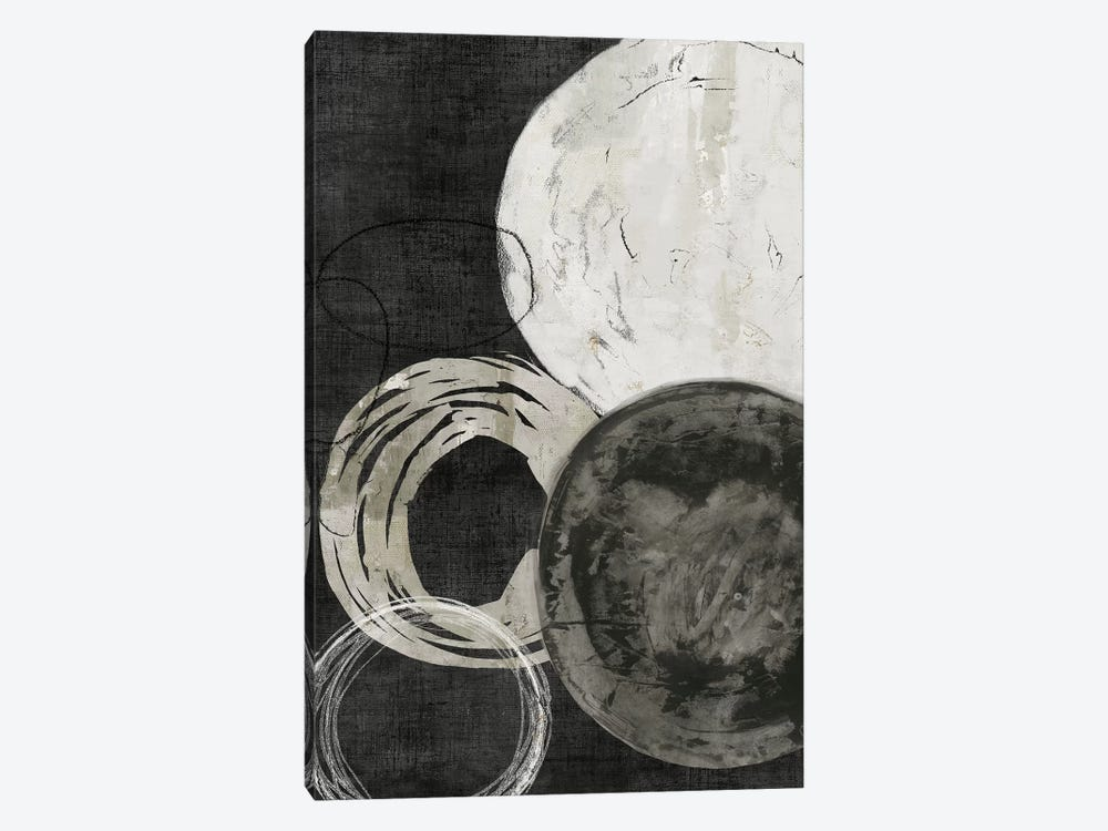 Black Rings by PI Galerie 1-piece Canvas Print