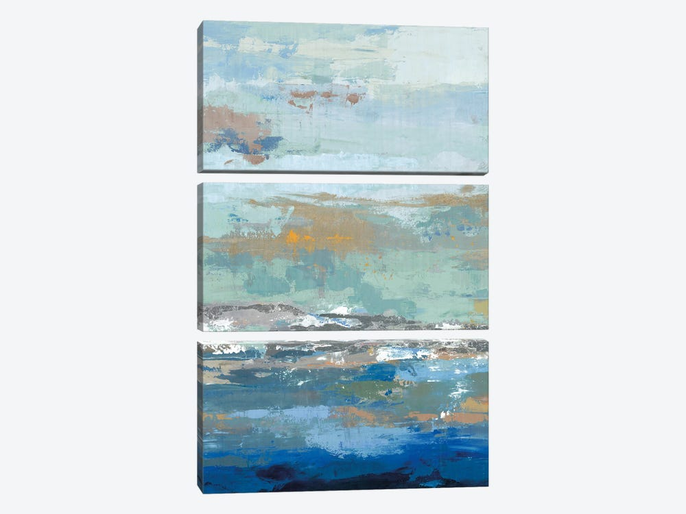 Tall Wave by PI Galerie 3-piece Canvas Artwork
