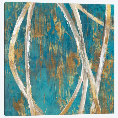 Teal Abstract I Canvas Print #PIG265} by PI Galerie Canvas Art Print
