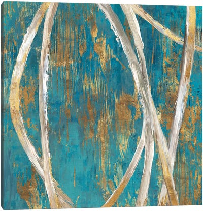 Teal Abstract I Canvas Art Print