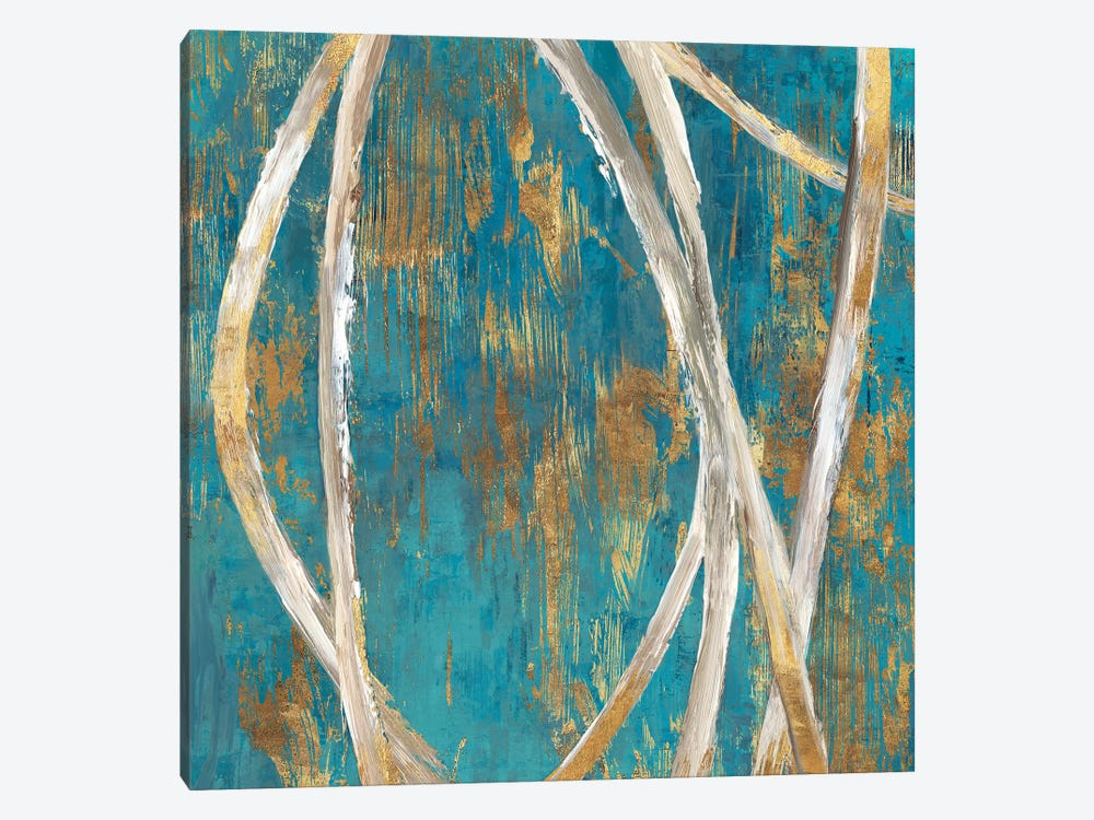Teal Abstract I 1-piece Canvas Print