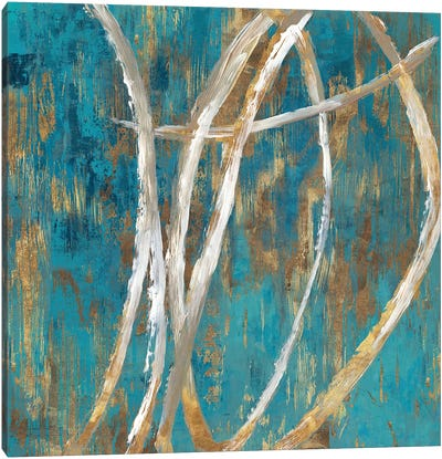 Teal Abstract II Canvas Art Print