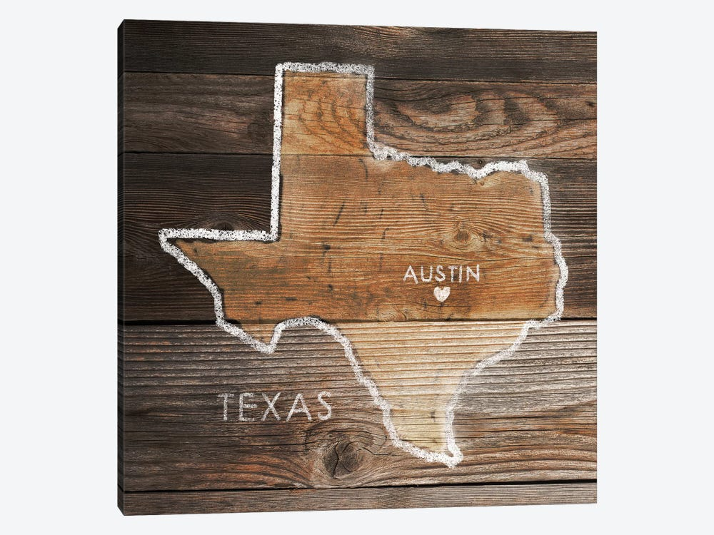 Texas Rustic Map by PI Galerie 1-piece Canvas Wall Art