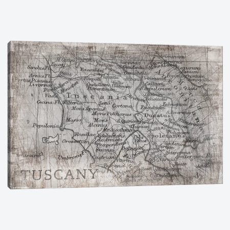 Tuscany Map White Canvas Print #PIG281} by PI Galerie Canvas Wall Art