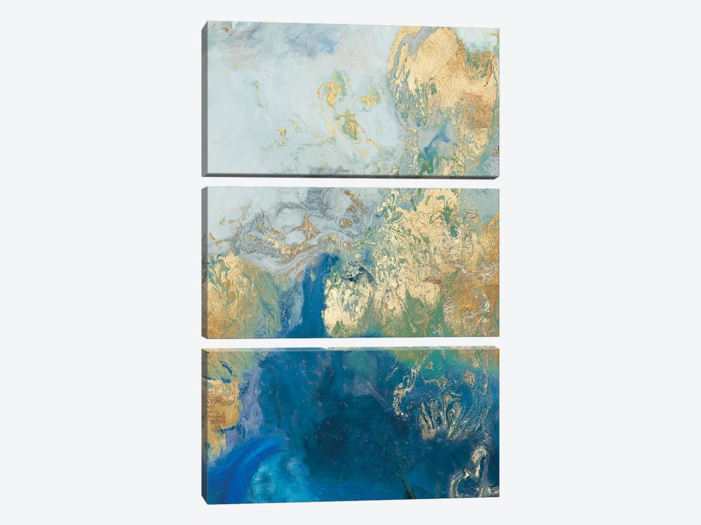 Ocean Splash II by PI Galerie 3-piece Canvas Art